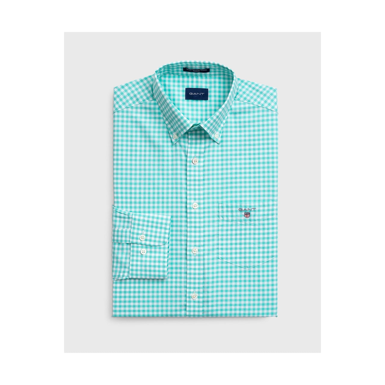 Gant-Gingham-Check-Shirt-Green