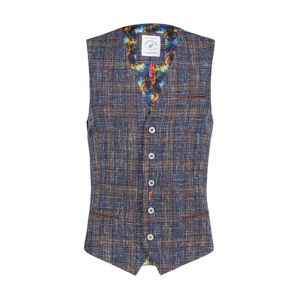 A-Fish-Called-Fred-Waistcoat-Blue-Brown-Checked