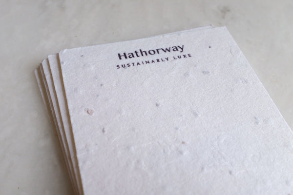 Sustainable jewelry brand uses seed paper for horn jewelry packaging
