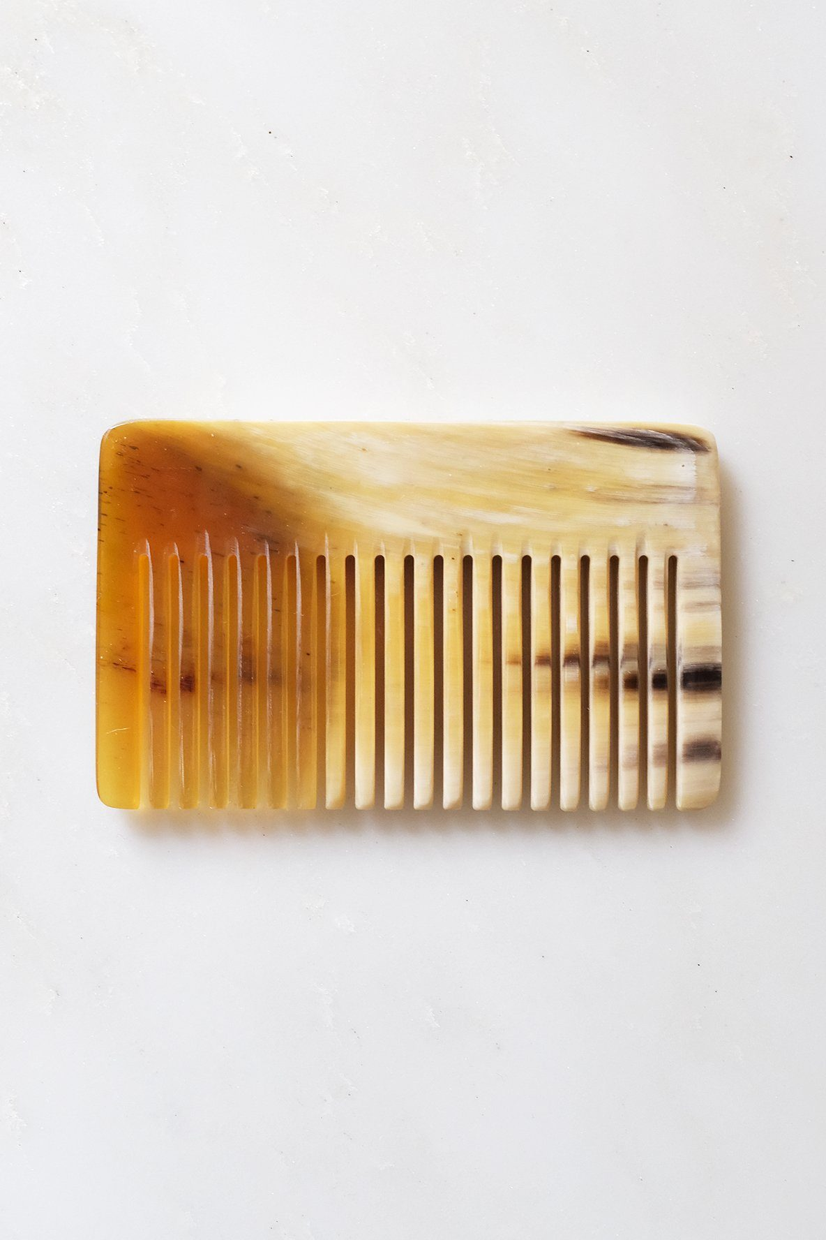 Chai Buffalo Horn Pocket-Sized Hair / Beard Comb - Handcrafted & Unique Buffalo Horn Jewelry