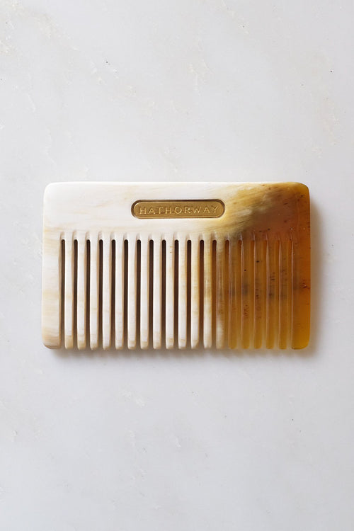 Chai Buffalo Horn Pocket-Sized Hair / Beard Comb