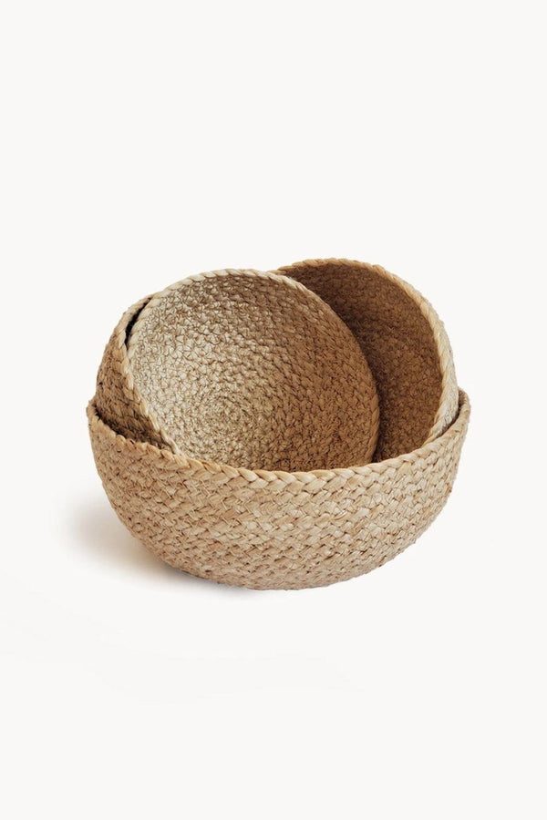 Kata Small Hand-braided Jute Bowl - Natural (Set of 4)