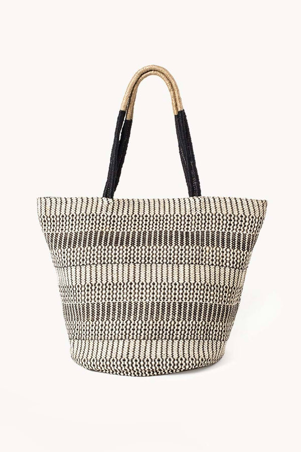 Korissa Dobi Mini Handwoven Jute Tote Bag - Handcrafted & Unique Buffalo Horn Jewelry