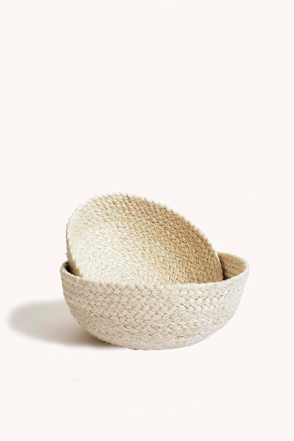 Korissa Kata Handwoven Jute Small Bowls - Handcrafted & Unique Buffalo Horn Jewelry