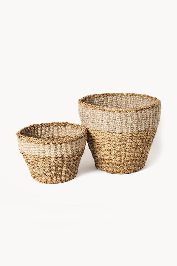 Savar Handwoven Jute Planter (Set of 2)