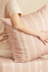 Vines Linen & Cotton Pillow in Blush