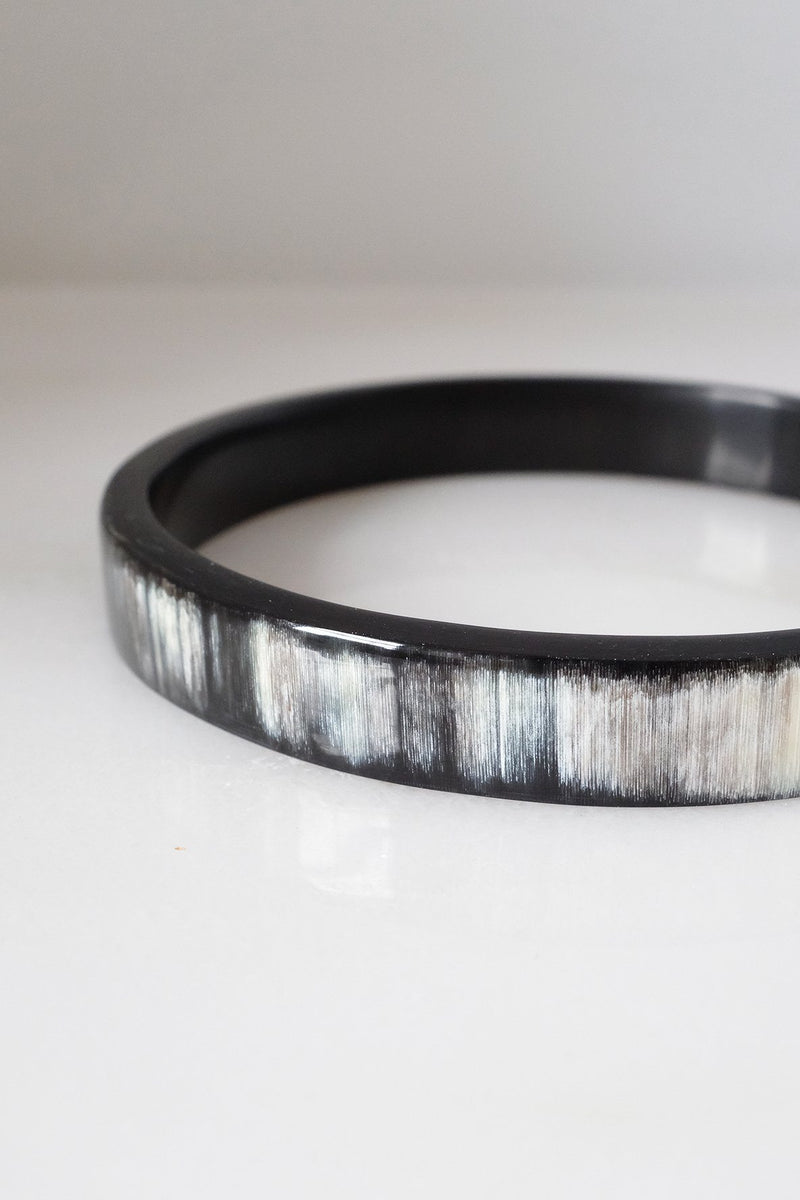 Tron Buffalo Horn Minimalist Bangle Bracelet (1pc) - Handcrafted & Unique Buffalo Horn Jewelry