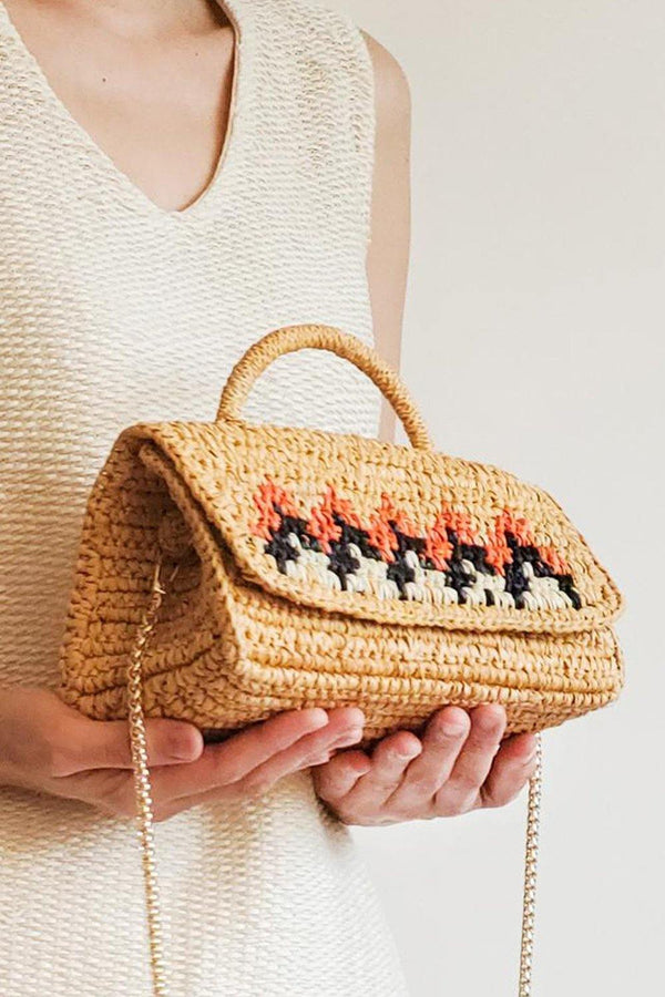 Andes Handwoven Toquilla Straw Crossbody bag