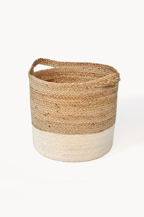 Kata Handwoven Colorblock Jute Basket