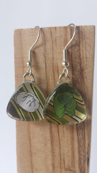 Masala Earrings - Pork Bun and Taro Leaf