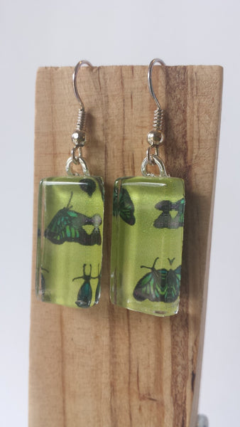 Butterfly Earrings on lemon