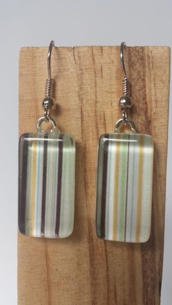 Subtle Stripe Earrings - vertical