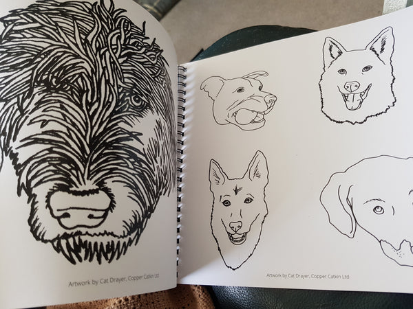 DOGS! Colouring Book