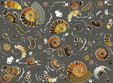 FQ - Fossilised ammonites - grey - medium print