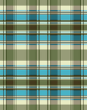 FQ - Plaid - Turquoise and Green