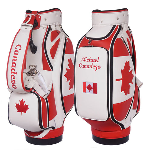 canadian flag golf bag - My Custom Golf Bag Global