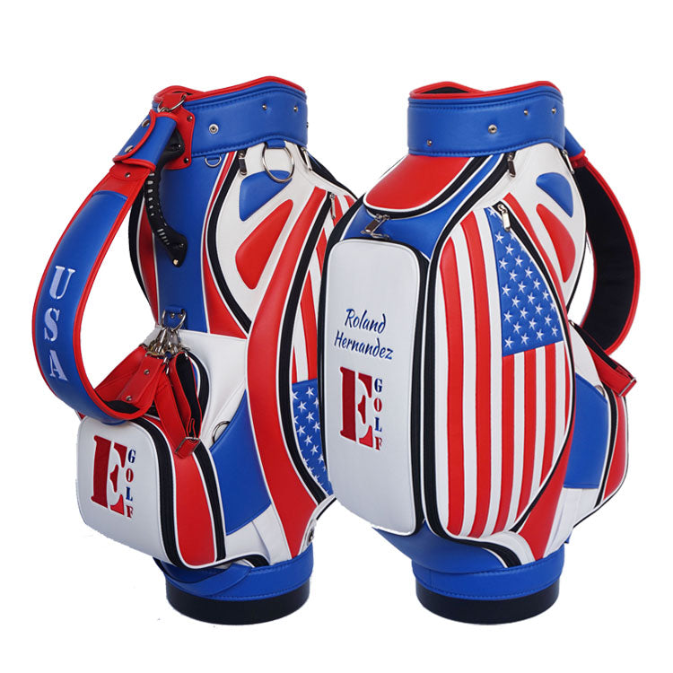 USA Flag Golf Bag - My Custom Golf Bag Global