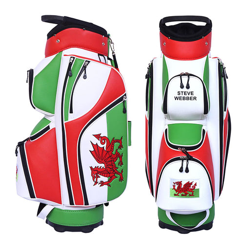 Welsh Flag Golf Bag - My Custom Golf Bag Global