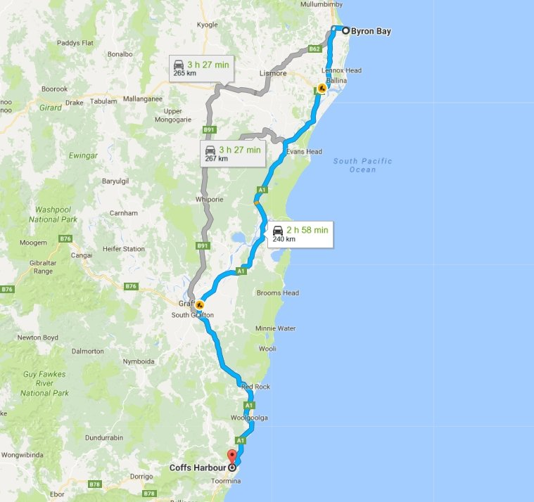 Day 38: Byron Bay to Coffs Harbour | Flying Solo Gear Company