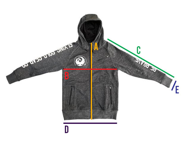 Measurements for Cypress Hoodie