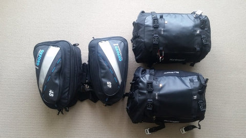 Oxford paniers and Kreiga tailbag