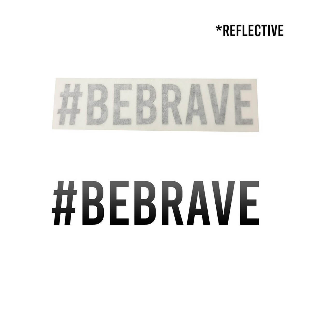 #BEBRAVE Waterproof Die-Cut Decal - Flying Solo Gear Company