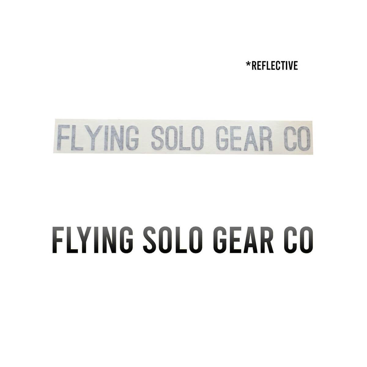 """Flying Solo Gear Co"" Waterproof Die-Cut Decal - Flying Solo Gear Company"