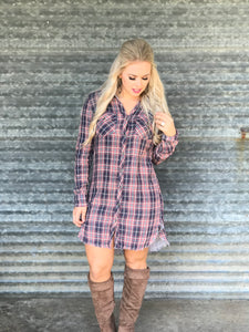 Pretty in Plaid Dress