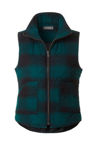 Green Buffalo Plaid Vest
