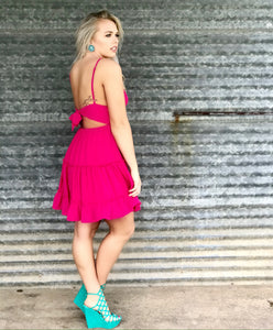 Jamaica Me Crazy Hot Pink Dress