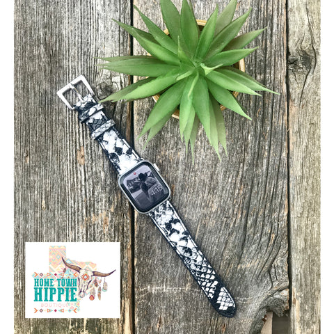 Snake Print Apple Watch band