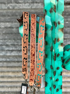 Tooled Belt Crossbody Straps