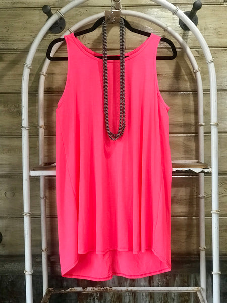 Neon Baby Tank(Hot Pink)