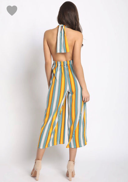 Day in the Sun Backless Romper