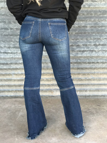 Nobody's Baby Frayed Flare Jeans