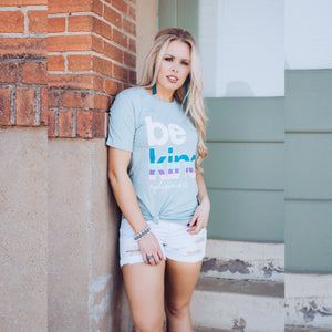 Be Kind Tee (Dusty Blue)