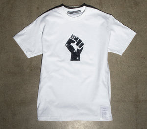 "White ""BLM Fist"" T-shirt // UNISEX"