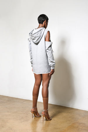 Grey Cutout Sweater // UNISEX - WOMEN