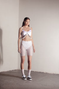 Ashlee sports crop- white//