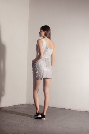 The D Day Dress-silver //