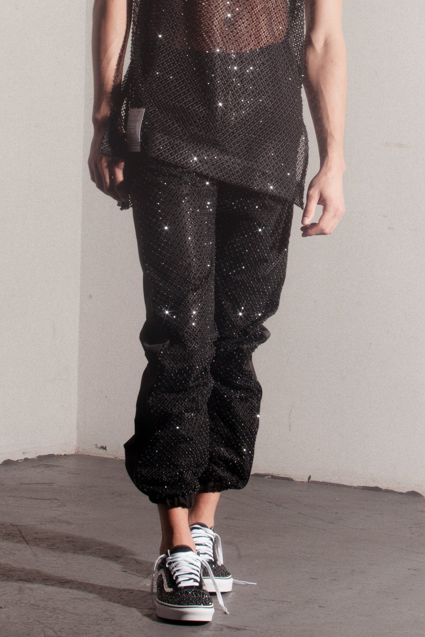 JC Crystal track pants  ///