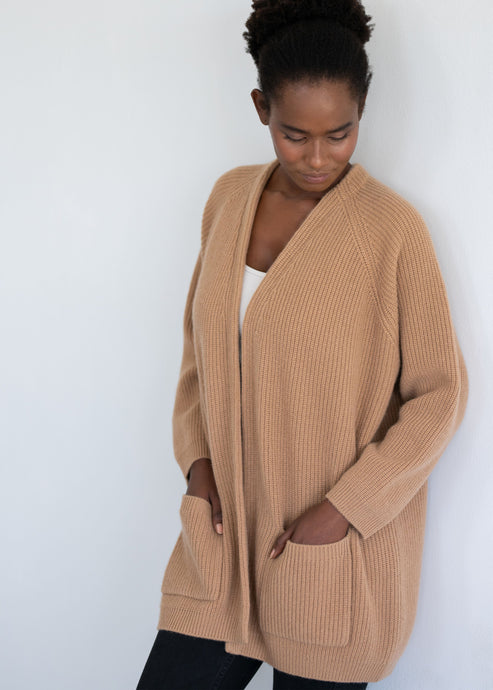 CHARLOTTE | Our chunky V neck cardigan