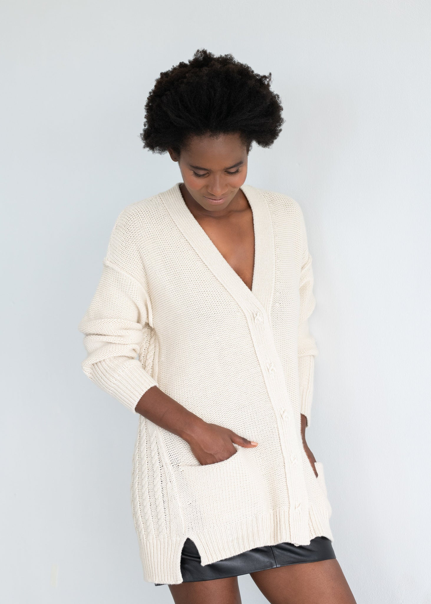GIANNA | Our cable cardigan