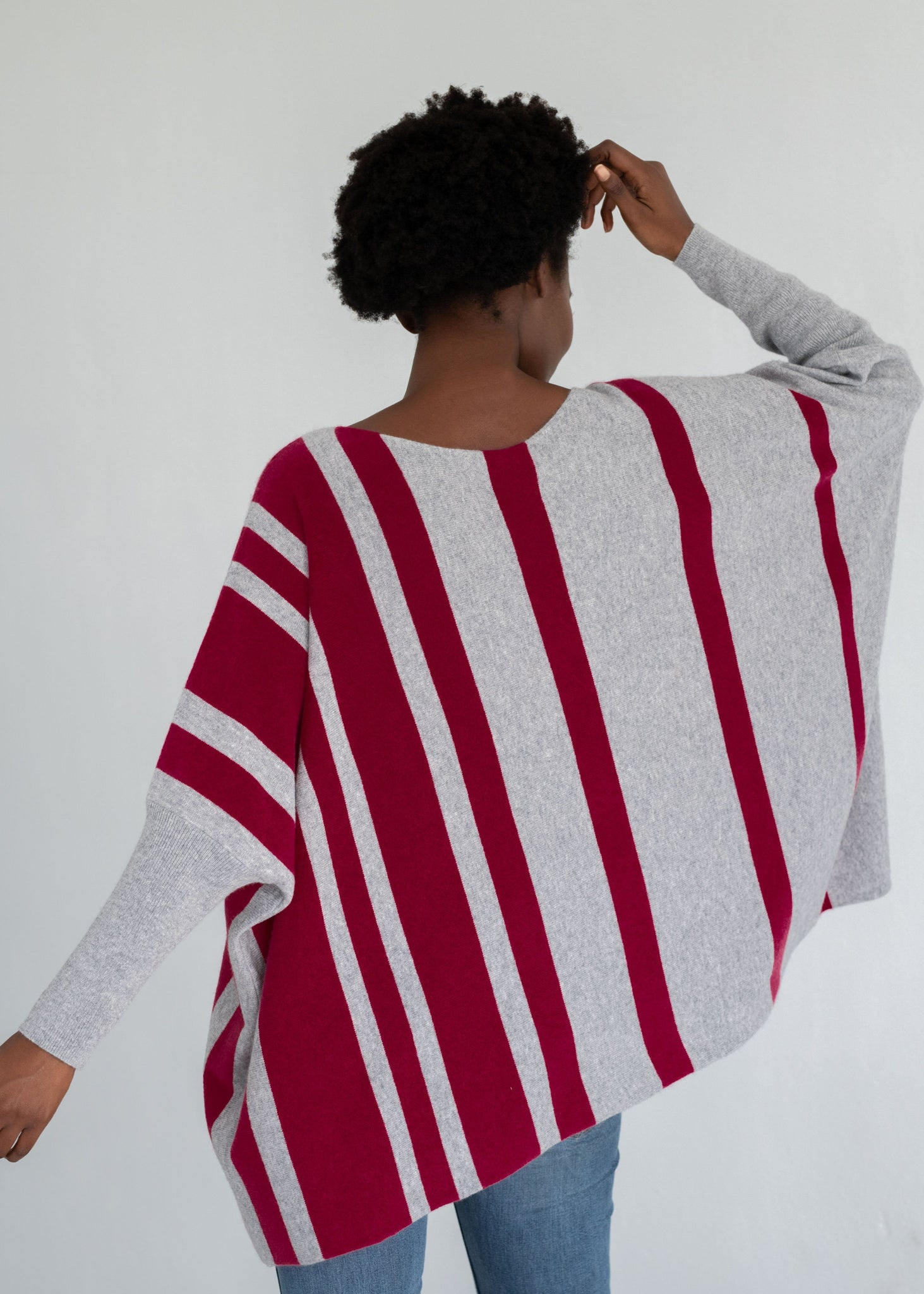 SAMIRA | Our oversize striped poncho