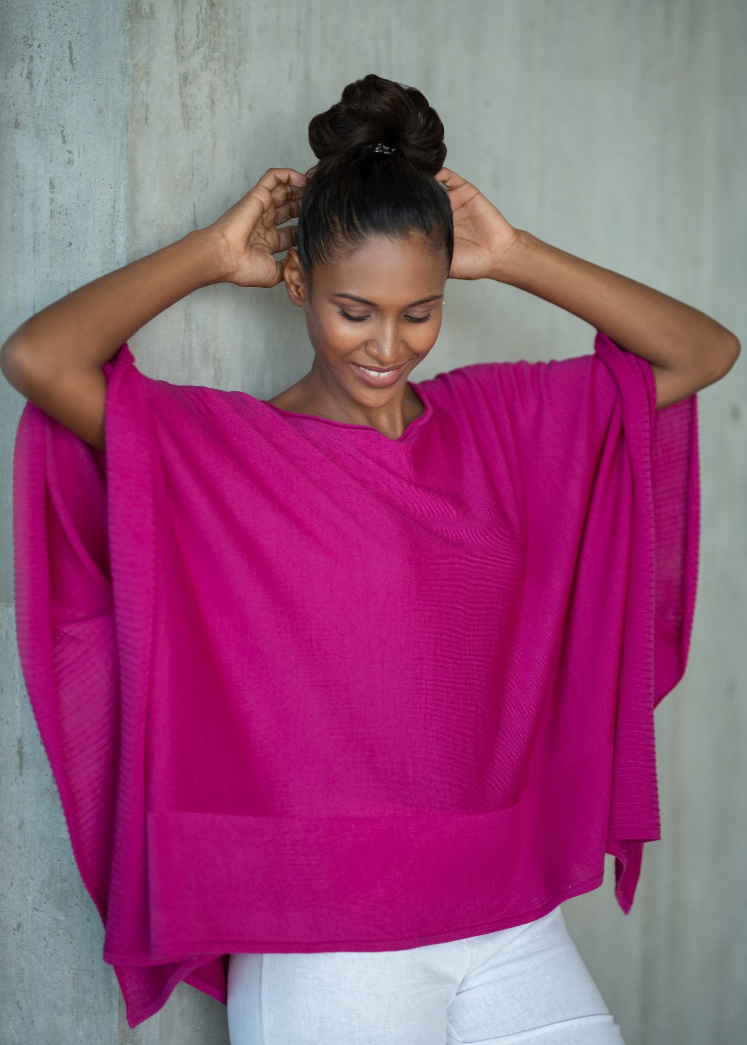 DANIKA | Our lightweight silk blend poncho