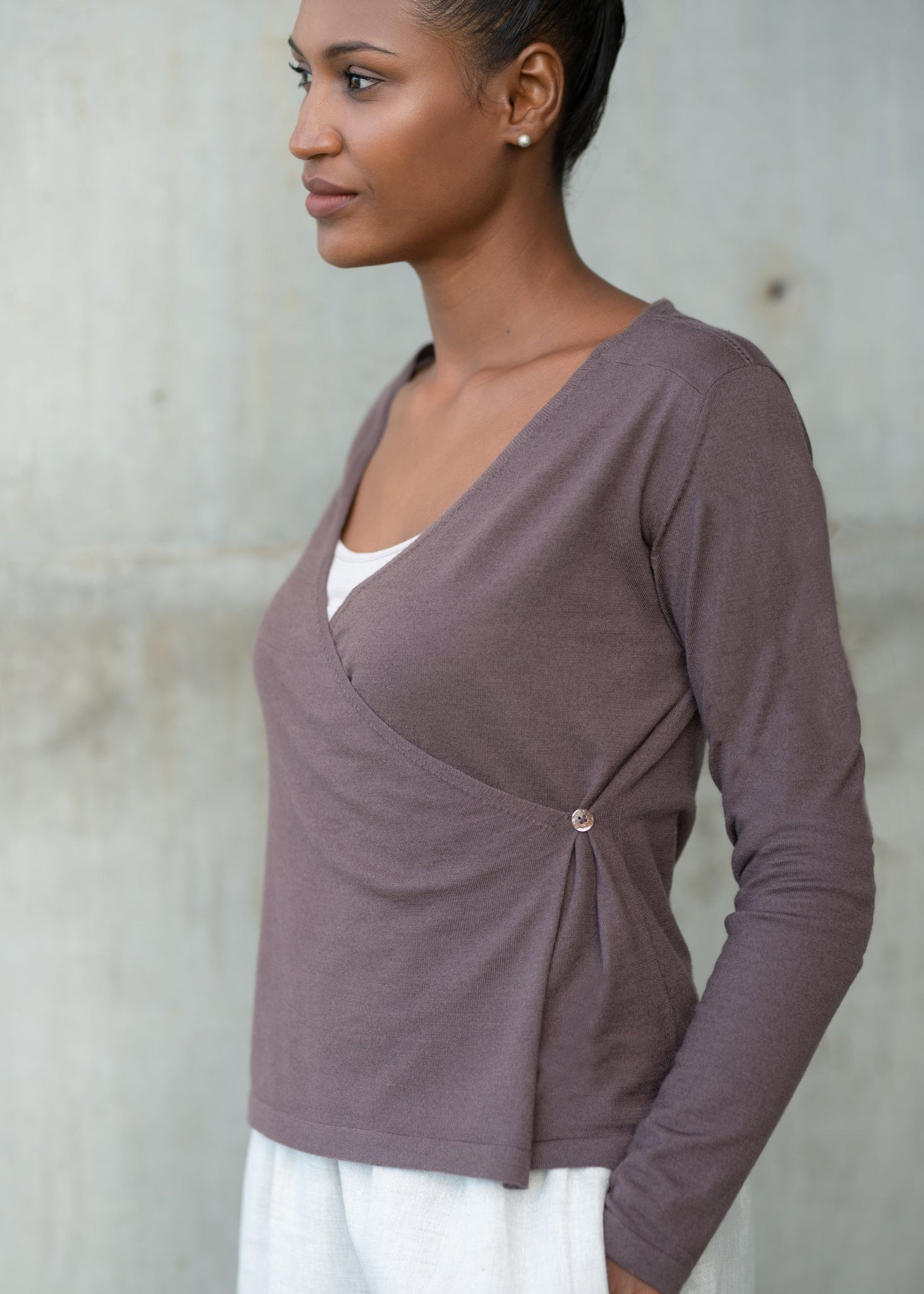 JULIE | Our comfort cross-over cardigan
