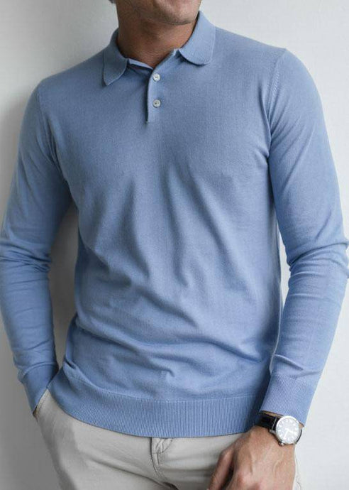 PARKER | Our fine-knit long sleeve polo