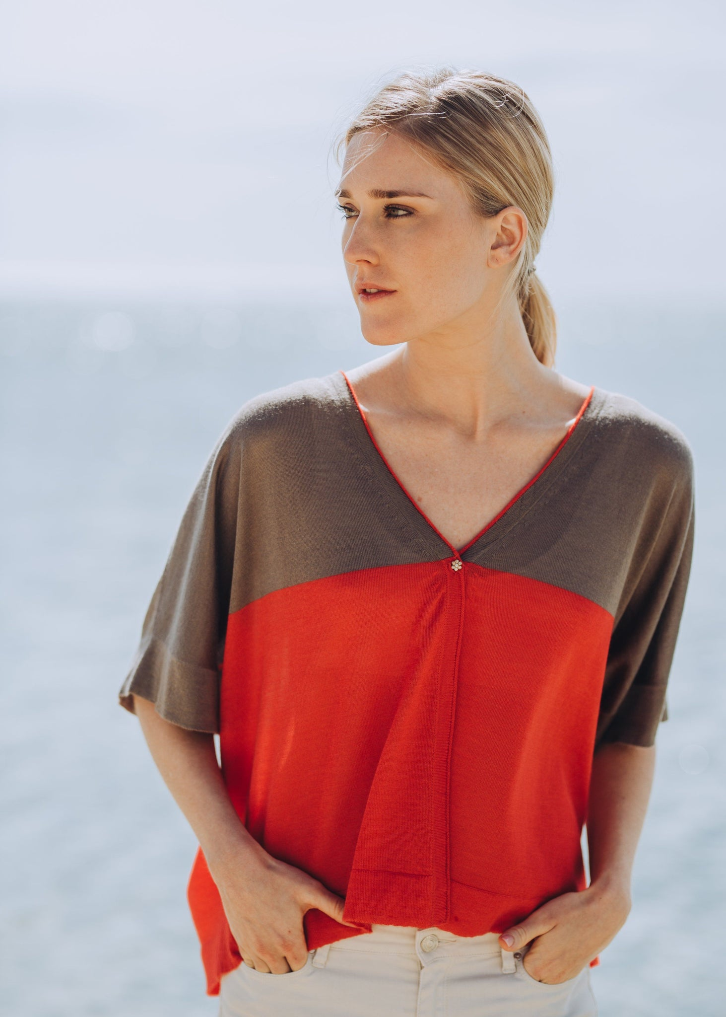 TESSA | Our fine cashmere silk graphic cardigan