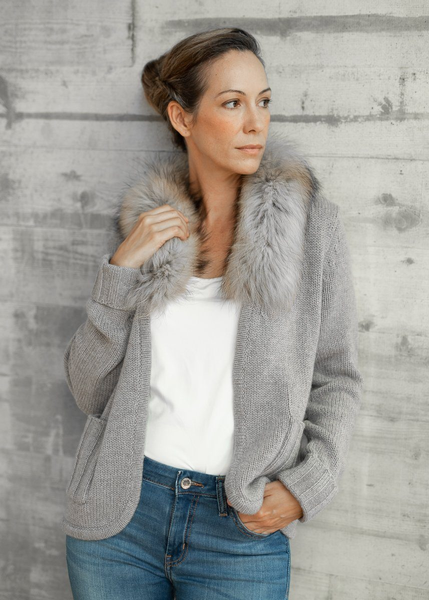 TAYLA | Our fur lined cardi