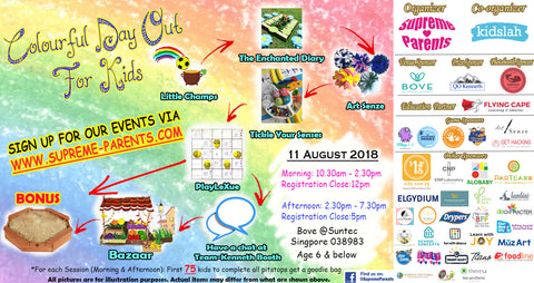 Colourful Day Out for Kids on 11 August 2018 by Supreme Parents